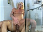 """Hot blonde with pierced nipples, takes huge cock and then is used like a dirty whore."""