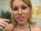 Latin transexual threesome at home is fun