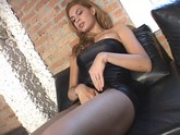 Tranny Masturbates on the Couch