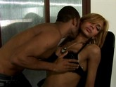 beautiful black tranny has sex in the office with mail boy